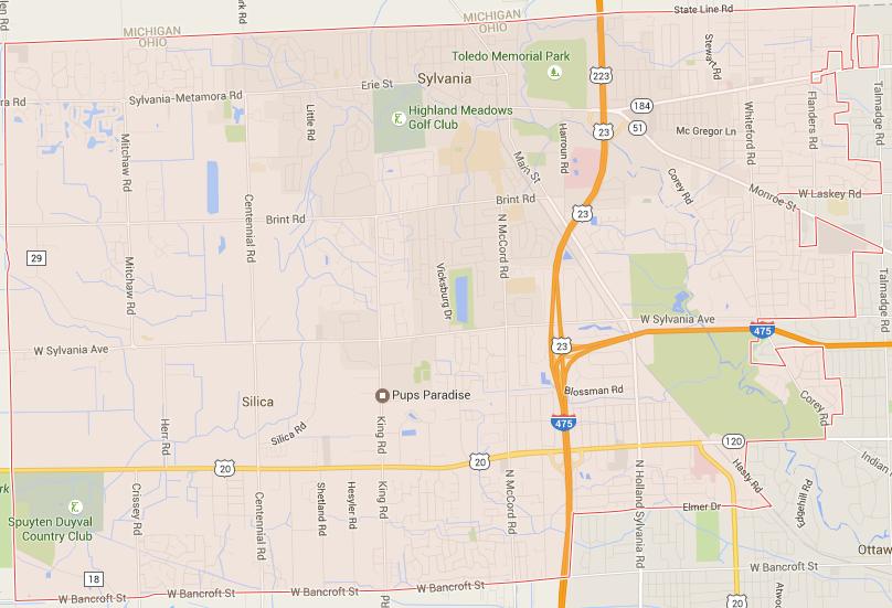 Sylvania Township Google Maps