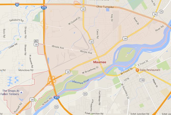 Maumee Google Maps