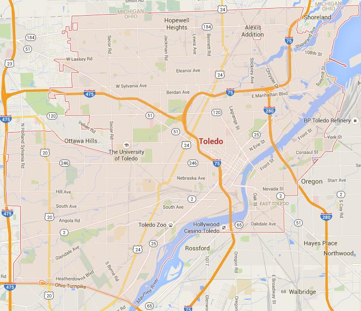 Toledo Google Maps